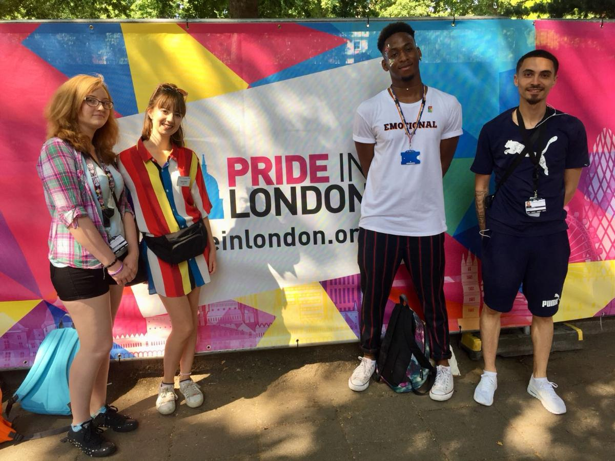 Homerton Sexual Health staff at London Pride