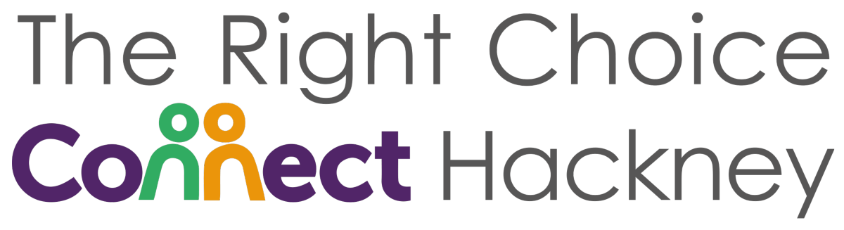 Logo for the Right Choice Connect Hackney sexual health service for people with learning disabilities