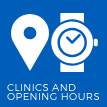 View our clinics and opening hours