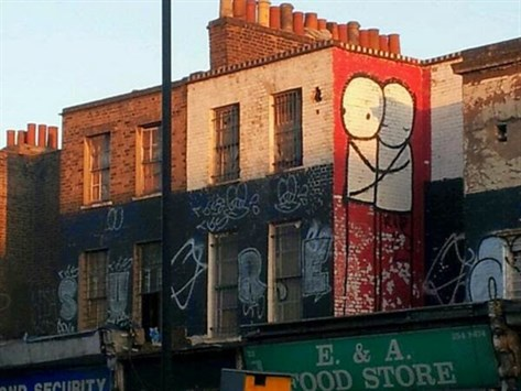 Street art graffiti in Hackney