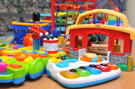 Image of toys available for children to play with